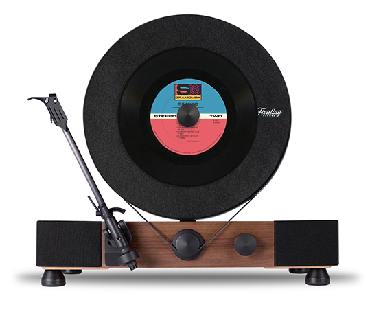 Floating Record A Vitrola Vertical da Gramovox