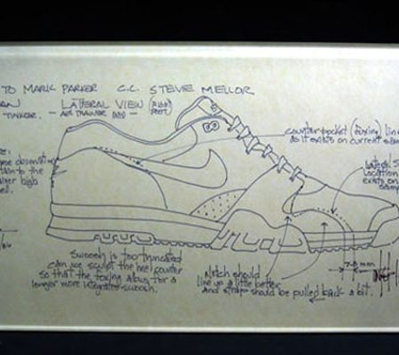 Abstract The Art of Design Tinker Hatfield Nike Air Trainer Concept
