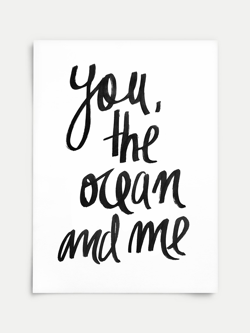 Poster You The Ocean And Me