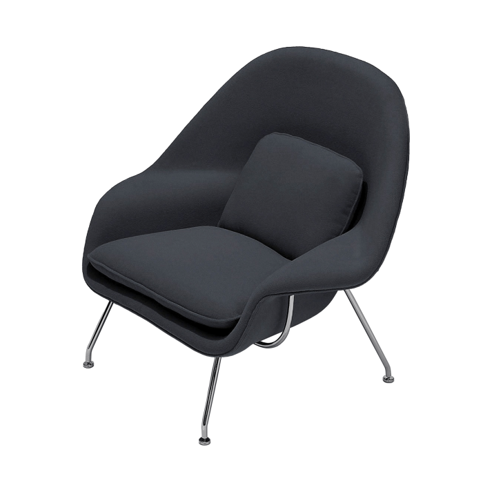 Poltrona Berger Saarinen (Womb Chair) Cinza