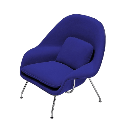 Poltrona Berger Saarinen (Womb Chair) Azul