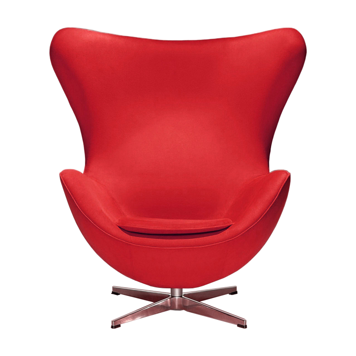Egg Lounge Chair Vermelha Arne Jacobsen