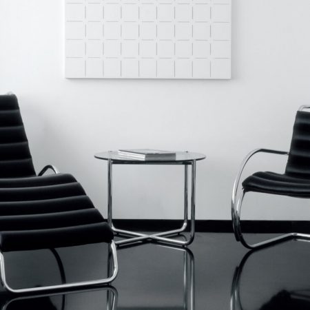 Table MR - Mesa MR Mies Van Der Rohe com poltronas